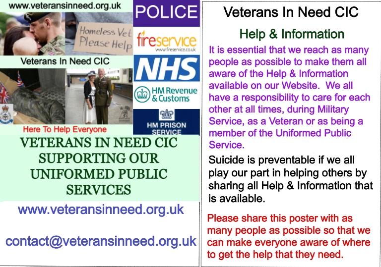 Veterans In Need C.I.C- Glasgow